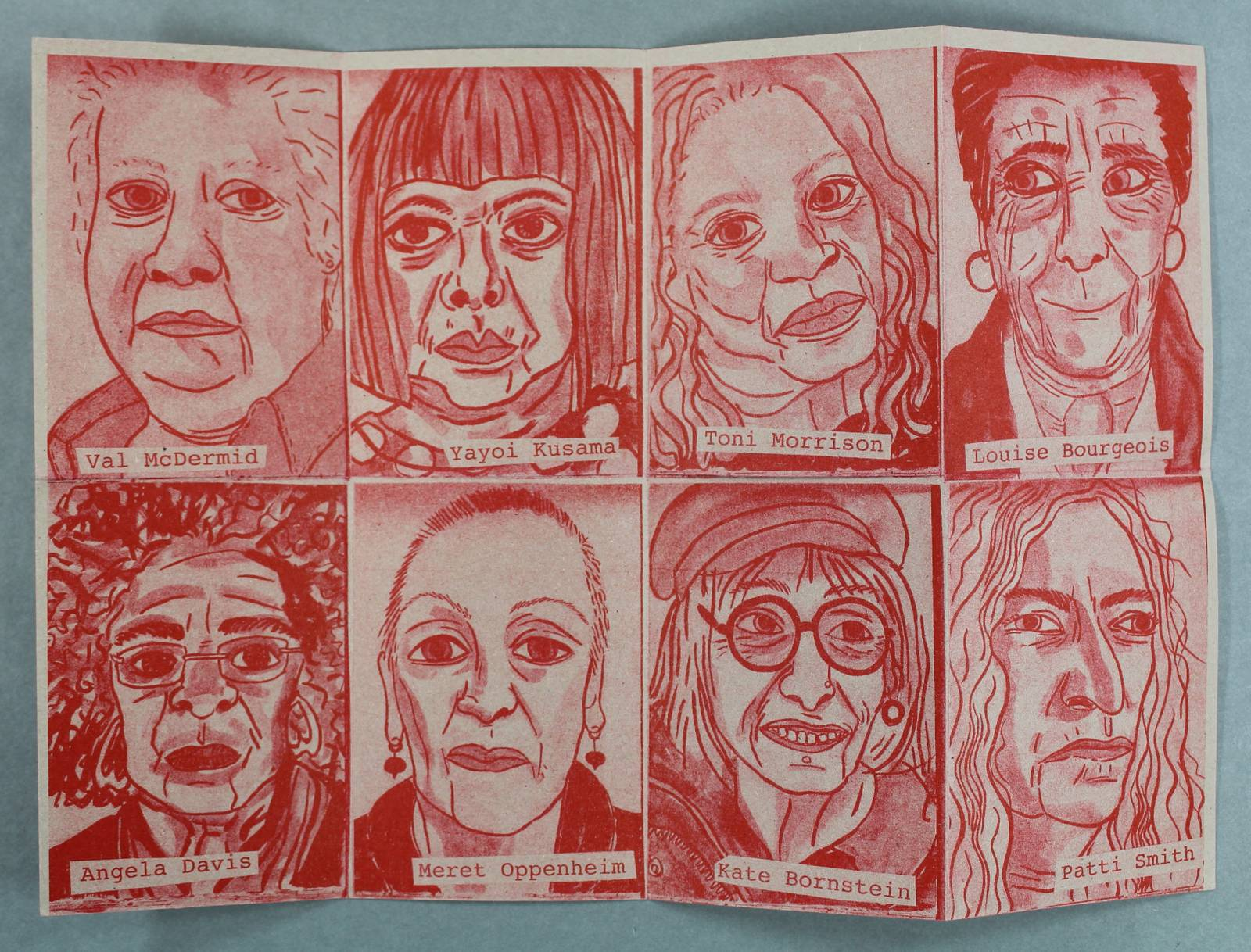 Crones zine by Rachael House, 2016. This zine celebrates older women working in creative roles and challenges negative images of female ageing.